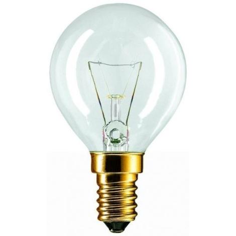 Apgaismojoša spuldze E14/60W/230V caurspīdīda