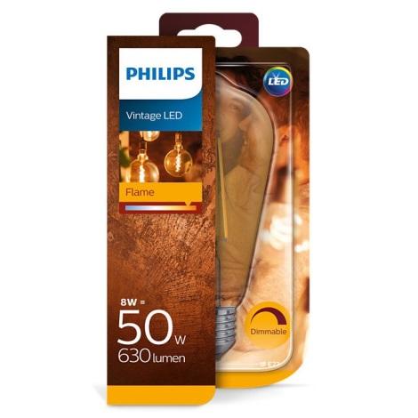 Aptumšojama LED spuldze Philips E27/8W/230V 2000K