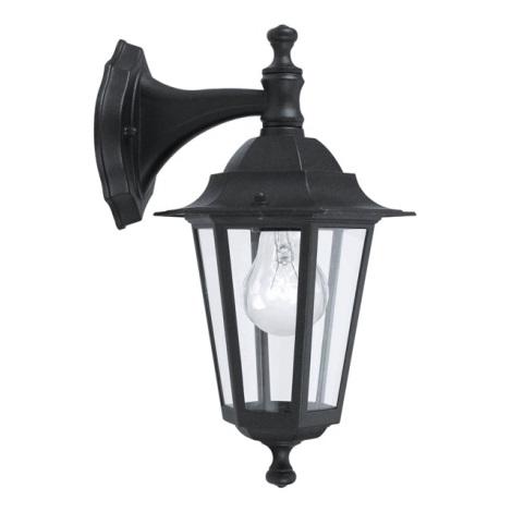 EGLO 22467 - Āra sienas gaismeklis LATERNA 4 1xE27/60W melns