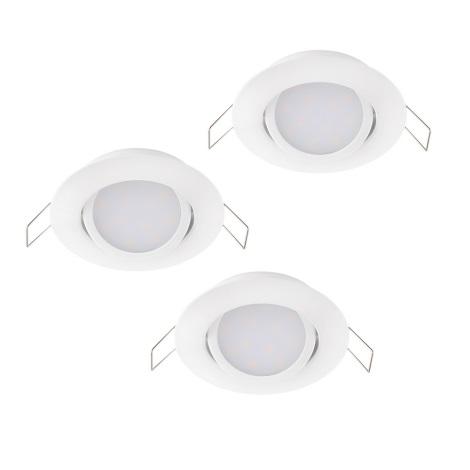 Eglo 32805 - KOMPLEKTS 3x LED iebūvējams griestu gaismeklis MUNIZ 3xLED/6W/230V