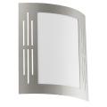 EGLO 82309 - Āra sienas gaismeklis CITY 1xE27/15W/230V IP44