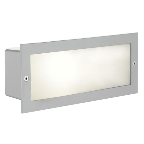 EGLO 88008 - Āra sienas gaismeklis ZIMBA 1xE27/60W sudraba/balts IP44