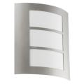 EGLO 88139 - Āra sienas gaismeklis CITY 1xE27/15W/230V IP44