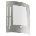 EGLO 88144 - Āra sienas gaismeklis ar sensoru CITY 1xE27/15W/230V IP44