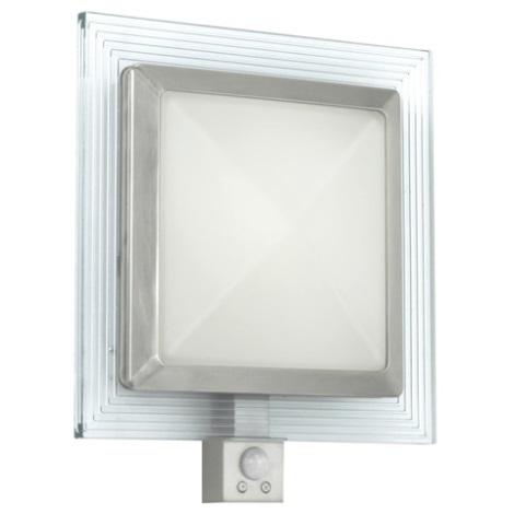 EGLO 88163 - Āra sienas gaismeklis ar sensoru PALI 1xE27/15W + 1xLED/1,28W IP44