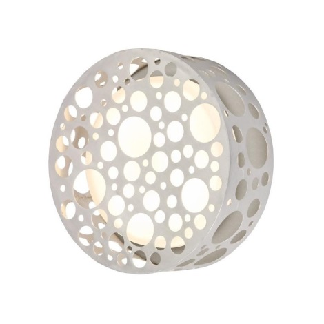 EGLO 89541 - Āra sienas gaismeklis ROCKER alumīnija/balts
