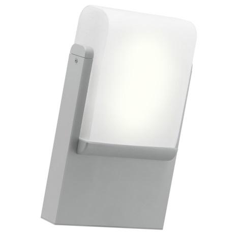 EGLO 89576 - Āra sienas gaismeklis CARACAS 1xE27/22W/230V sudraba IP44