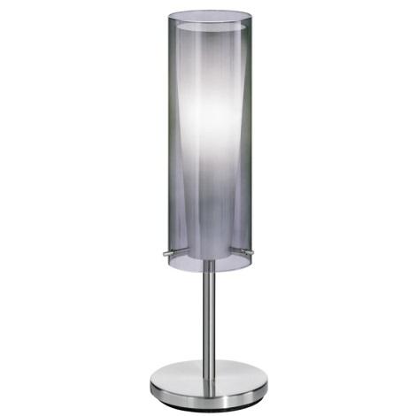 EGLO 90308 - Galda lampa PINTO NERO 1 x E27/60W dūmakaina