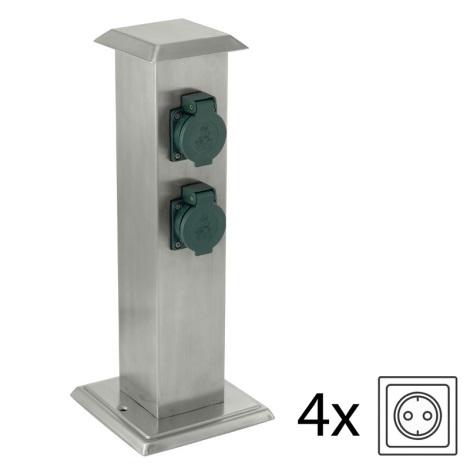 EGLO 90748 - Āra kontakligdzdu kolonna PARK 4 zaļš IP44