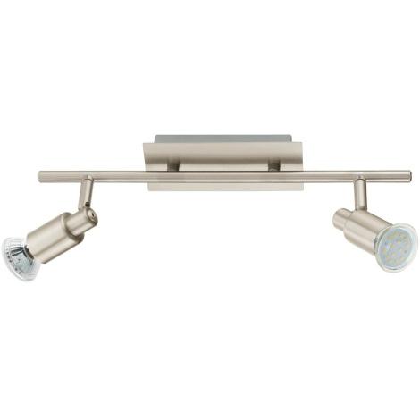 EGLO 90824 - Sienas griestu gaismeklis ERIDAN 2xGU10/LED/3W