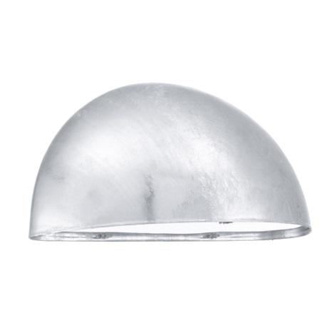 EGLO 90867 - Āra sienas gaismeklis LEPUS 1xE27/40W cinkots tērauds
