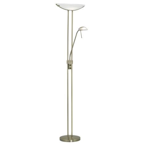 EGLO - Aptumšojama grīdas lampa 1xR7s/230W + 1xG9/33W bronzas