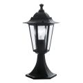 EGLO - Āra lampa 1xE27/60W melns IP44