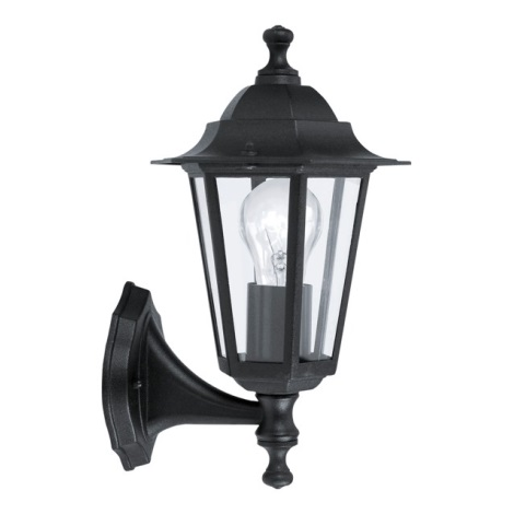 EGLO - Āra sienas gaismeklis 1xE27/60W melns