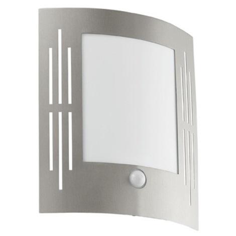 EGLO - Āra sienas gaismeklis ar sensoru 1xE27/15W/230V IP44