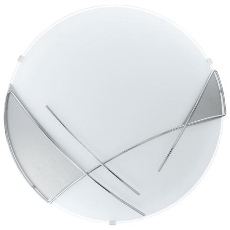 EGLO - Sienas griestu gaismeklis 1 x E27/60W sudraba / balts
