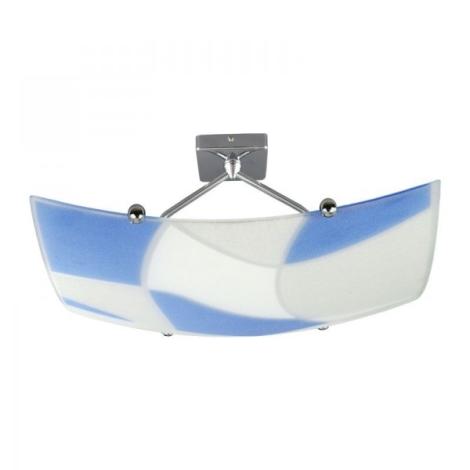 Griestu gaismeklis ASPIS 2xE27/100W/230V balts/zils