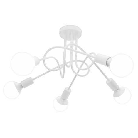 Griestu gaismeklis OXFORD 5xE27/60W/230V balts