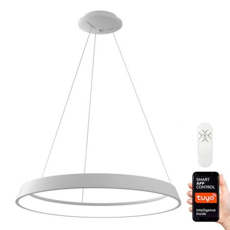 Immax NEO - LED Aptumšojama lustra uz auklas LIMITADO LED/39W/230V 60 cm balta Tuya