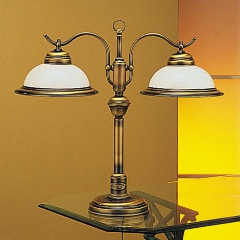 Jupiter 17 - OG2 - Galda lampa opāla 2xE27/60W/230V