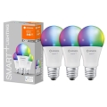 KOMPLEKTS 3x LED Aptumšojama spuldze SMART+ E27/14W/230V 2,700K-6,500K Wi-Fi - Ledvance