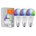 KOMPLEKTS 3x LED Aptumšojama spuldze SMART+ E27/9.5W/230V 2,700K-6,500K Wi-Fi - Ledvance