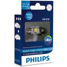 LED Auto spuldze Philips X-TREME ultinon 128584000KX1 LED SV8.5-8/0,8W/12V 4000K