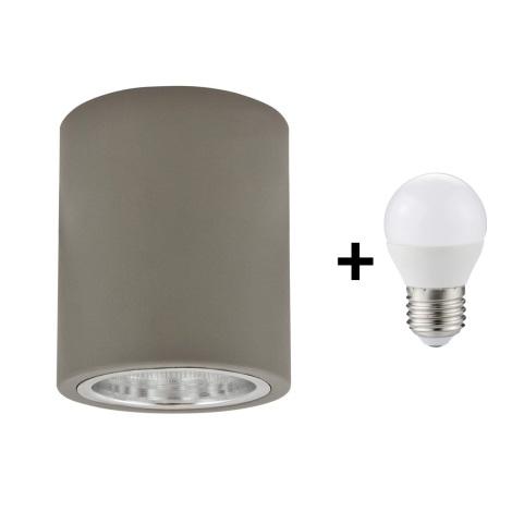 LED Griestu gaismeklis JUPITER 1xE27/6W/230V 120x98 mm