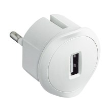 Legrand 50680 - USB Spraudņa adapteris 230V/1,5A balts