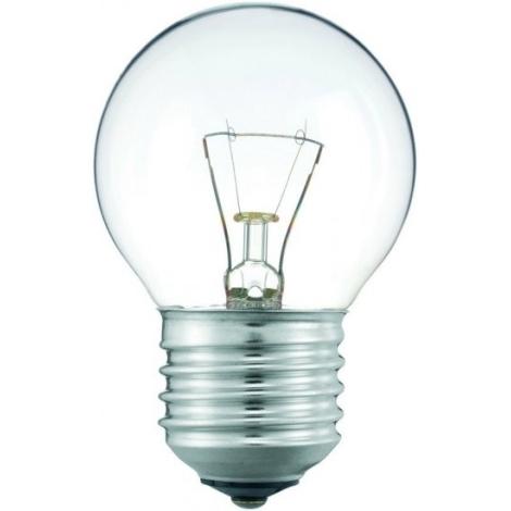Lielas slodzes apgaismojoša spuldze E27/25W caurspīdīga