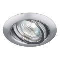 Luxera 71050 - Padziļinājuma gaismeklis ELEGANT 1xGU10/50W/230V