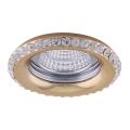Luxera 71081 - Iegremdēts Apgaismojums CRYSTALS 1xGU10/50W/230V kristāla