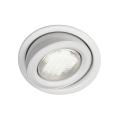 Massive 59600/31/10 - Vannas istabas iebūvējams gaismeklis MONO 1xGX53/9W/230V balts