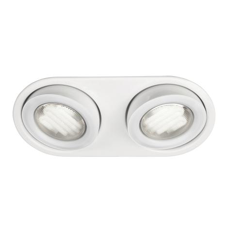 Massive 59602/31/10 - vannas istabas Iegremdēts Apgaismojums MONO 2xGX53/9W/230V balts