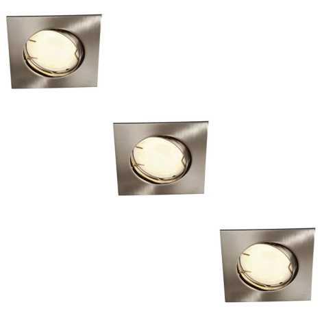 Massive 59733/17/10 - KOMPLEKTS 3x vannas istabas iegremdēts gaismeklis ZARO 3xGU10/10W