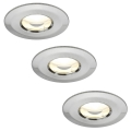 Paulmann 92849 – KOMPLEKTS 3×LED/7W IP65 Dimmable Bathroom Light COIN 230V