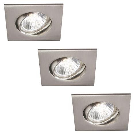 Philips 59473/17/16 - KOMPLEKTS 3x Vannas istabas iegremdēts gaismeklis CAPELLA 3xGU10/30W