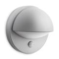 Philips - Āra sienas gaismeklis ar sensoru E27/12W