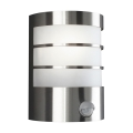 Philips Massive 17026/47/10 - Āra Sienas Apgaismojums ar sensoru 1xE27/60W/230V