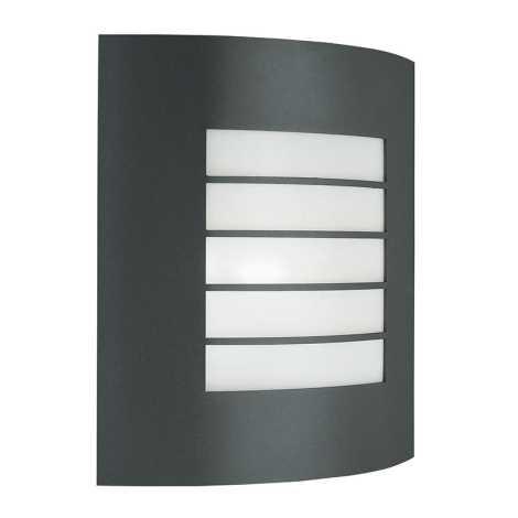 Philips Massive - Āra sienas gaismeklis 1xE27/60W tumši pelēks