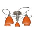 Pieliekama lustra CARRAT matēta hroma/hroma/oranža