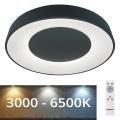Rabalux - LED Aptumšojams griestu apgaismojums LED/38W/230V melns + TP 3000-6500K