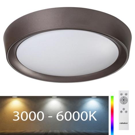 Rabalux - LED RGB Aptumšojams griestu gaismeklis LED/24W/230V + TP 3000-6000K