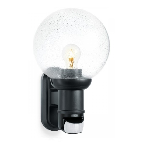 STEINEL 634216 - L 560 S Āra sienas lampa ar sensoru melns IP44